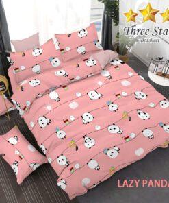 Lazy Panda Pink